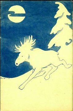 Kunstnerkort OTTO VON HANNO. Utg Damm 1930-tallet