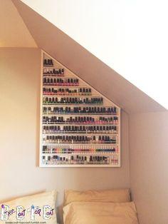 awesome nail polish storage. Need something similar to this!