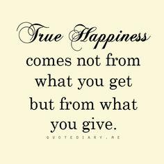 true happiness...