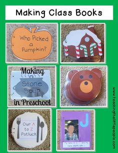 Making Class Books::Teaching The Little People Kindergarten Writing, Preschool Lessons, Kindergarten Literacy, Preschool Learning, Literacy Activities, Preschool Ideas, Teaching Ideas, Preschool Prep, Literacy Centers