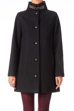 Manteau en laine Sissi Marine Sessun sur MonShowroom.com