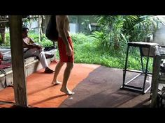 Muay Thai Kick Footwork Training - Thai Champion Boxer Jeremy Wight - YouTube