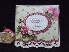 Happy Birthday Sister by Dragonfly Cards - Cards and Paper Crafts at Splitcoaststampers Happy Birthday Sister, Daughter Birthday, Spellbinders Cards, Marianne Design, Heartfelt Creations, Anniversary Cards, Happy Anniversary, Handmade Birthday Cards, Pretty Cards