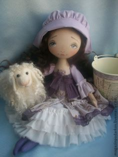Лаванда - сиреневый,кукла ручной работы,кукла интерьерная,Кукла для интерьера