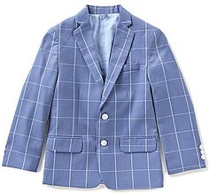 Isaac Mizrahi Single Plaid Print Blazer (Toddler, Little Boys, & Big Boys) Blue Blazer Outfit, Blazer Outfits, Big Boys, Little Boys, Teen Guy, Printed Blazer, Suit Jacket, Nordstrom, Plaid