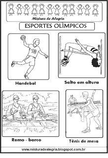 mistura de alegria esportes olÍmpicos para colorir olimpÍada 2016
