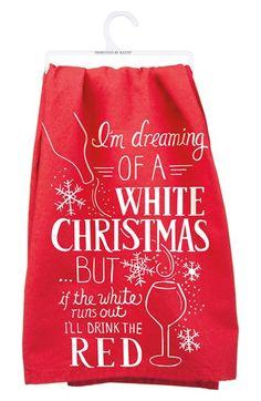 Funny Christmas wine towel