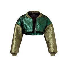 Burberry Super Cropped Metallic Bomber ($3,595) ❤ liked on Polyvore featuring outerwear, jackets, burberry, coats & jacket, coats, верхняя одежда, outerwear/coats, xx-burberry, jackets and outerwear and jasjes