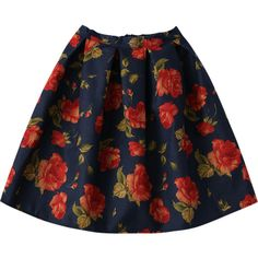 Floral Flippy Ball Gown Skirt (455 MXN) ❤ liked on Polyvore featuring skirts