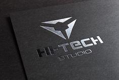 Modern Hi-Tech Logo Hi Tech Logo, Tech Logos, Logo Ad, Corporate Brochure, Clean Design, School Design, Logo Templates, Design Bundles, Design Elements