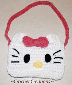 Crochet Hello Kitty Purse              Enjoy this Hello Kitty Purse!                        My Crochet You Tube Channel:  https://www.youtu...