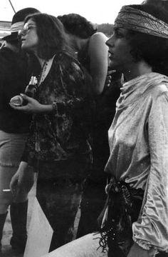 Janis Joplin and Grace Slick, Woodstock 1969