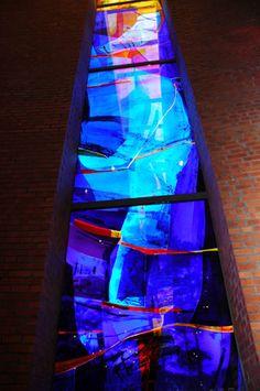 Kjell Nupen Uses Of Glass, Leaded Glass Windows, Lava Lamp, New Art, Stained Glass, Glass Art, Mosaic, Kristiansand, John Piper