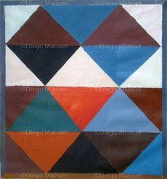 """Composicion 1 B"" , acrylic on canvas, 31 x 34 cm, 2013 Price of original painting us$300"