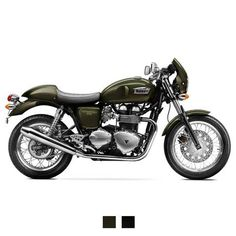 2015 Triumph Thruxton | The Thruxton is born of the café racer culture that dominated motorcycling in the 1960s. Back then, British twins, usually Bonneville engines, were used to form the basis of home built bikes. #caferacer