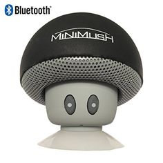 Mini Bluetooth Speaker - Fun Shockproof Cartoon Mushroom with LED Display Lighting and Wireless Integrated Mic for Calls - Ideal for your iphone 6, Apple Ipad, HTC and Samsung Phone (Black) MiniMush http://www.amazon.com/dp/B01962DE4Q/ref=cm_sw_r_pi_dp_GVfNwb0BMZTCC