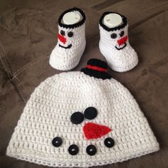 crochet children set-snowman by steficrochetideas on Etsy https://www.etsy.com/listing/252501797/crochet-children-set-snowman