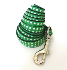 Small size Leash Gingham Green by usagiteam on Etsy, $39.00