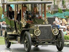 1906 Panhard et Levassor Type Q Regent Demi-Limousine Retro Cars, Vintage Cars, Antique Cars, Pebble Beach Concours, Classy Cars, Old Classic Cars, S Car, Limousine, Car Photos