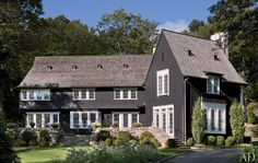 European Farm home, love the black, very authentic look and nice and reserved
