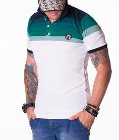 Kenzo Tricouri Polo - Tiger tricou polo alb-verde