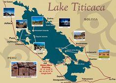 imagenes del lago titicaca mapa