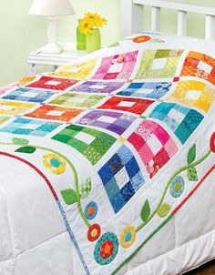 Baby Bright Quilts - Create a Baby Blanket for Keepsake Baby Bright Quilts – Erstellen Sie eine Babydecke für Andenken, die sich perfek… Baby Bright Quilts – Create a baby blanket for keepsakes that is perfect for newcomers - Jellyroll Quilts, Scrappy Quilts, Easy Quilts, Bed Quilts, Bright Quilts, Colorful Quilts, White Quilts, Colchas Quilting, Quilting Projects
