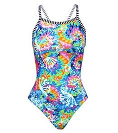 "One of my swim coaches, who has a teenage daughter who swims competitively, told me that Dolfin ""Uglies"" are what all the young kids are wearing at practice now. They don't fade nearly as fast as Lycra suits do and they're MUCH cheaper than Speedo, Nike, etc. This Uglies Dandelion V-2 Back one piece, for example, was on sale at SwimOutlet.com for $23!"