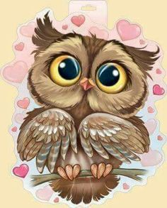 The cutest owl ever! Animal Drawings, Cute Drawings, Owl Drawings, Owl Artwork, Owl Pictures, Owl Crafts, Cute Cartoon, Cartoon Owl Drawing, Cute Owl Drawing