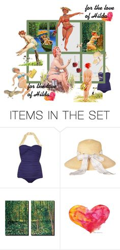 """For the love of Hilda"" by kitty-kimber ❤ liked on Polyvore featuring art"