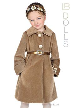 73bc0a311 Girls Pink Coat with Fur Trim