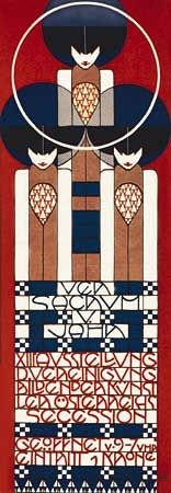 Koloman Moser, poster for 13th Exhibition of the Vienna Secession, color lithograph, 1902 | #design #art #deco