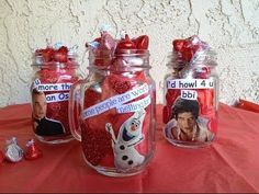 Maya shows how to make some adorable Valentine's using mason jars & Collage Pauge withcelebrities and other fun pop culture clippings! Fill with candy for al. Days To Christmas, Christmas Mason Jars, Some People, Be My Valentine, St Patricks Day, Maya, Snack Recipes, Chips, Candy