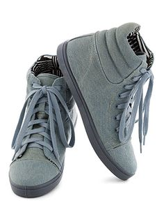 Best for Hanging Downtown: ModCloth Hi-Top the Charts #Sneaker, $34.99; modcloth.com