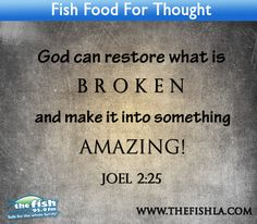 Only God can restore what is broken!