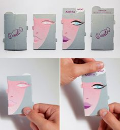 Interactive Image Changing Business Card For A Make Up Artist