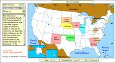 Free online game for practicing state locations - State name is announced and… Us Geography, Teaching Geography, Teaching History, Geography Activities, Fun Activities, 4th Grade Social Studies, Social Studies Activities, Teaching Social Studies, Alabama