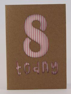 Birthday Card Age 8 £2.50