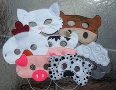 Old MacDonald Farm Animal Mask Pretend от cabincraftycreations