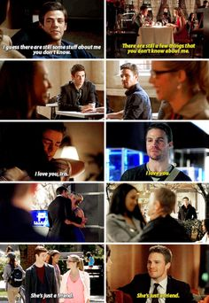 Barry/Iris and Oliver/Felicity parallels