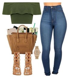 """""""Untitled #463"""" by pinkymimi ❤ liked on Polyvore featuring Smashbox, CÉLINE, WearAll, Manolo Blahnik and Rolex"""