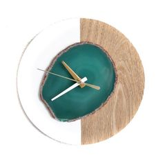 """Another 8"""" KISMET design agate wall clock back in stock!! Won't last long!!"""