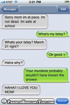 Overprotective mom.. haha