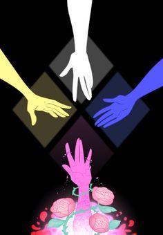 Steven universe,фэндомы,SU art,Pink Diamond,SU Персонажи,White Diamond,Yellow Diamond,Blue Diamond