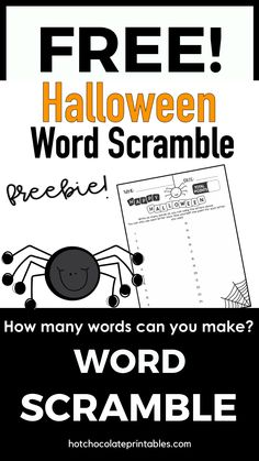 Download this free Halloween activity for your students. See how many words they can make using the letters in Happy Halloween!