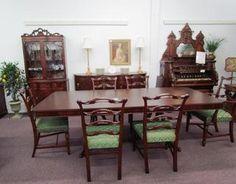 American Romweber 9 Pc Mahogany Dining Room Set Morrisantiques