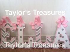 taylors treasures hanging wall letters 9 inch nursery letters matches carousel designs pink