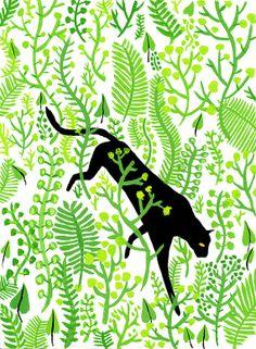 Big cats on behance by vikki chu :: illustration and graphic Creation Art, Art Et Illustration, Photography Illustration, Simple Illustration, Art Graphique, Art Design, Of Wallpaper, Cat Art, Bunt
