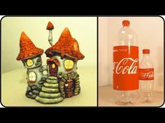 ❣DIY Fairy House Inn Lamp Using Coke Plastic Bottles❣ - YouTube