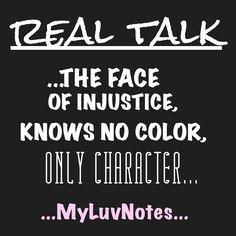 #realtalk ...character...